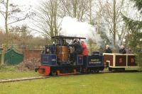 An 0-4-0 VBT 'Chartley', built in 1955, seen here on 28 March 2015 in the garden railway at Statfold Barn.<br><br>[Peter Todd&nbsp;28/03/2015]