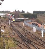 Semaphore signals and manual boxes - enjoy them while you can. A class 170 heads for Bromsgrove at Droitwich on 30 March 2015 [see image 7088].<br><br>[Ken Strachan&nbsp;30/03/2015]