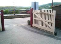 There's something about Settle station - even the gate onto the platform looks peaceful and serene. [see image 47644]<br><br>[Ken Strachan&nbsp;20/05/2014]
