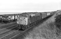 Green EE Type 4 No. 252 approaches Tweedmouth with an Edinburgh bound parcels on a September afternoon in 1970. The time was 15:43 and the reporting number 6S21 - indicating that the train had originated in York.<br><br>[Bill Jamieson&nbsp;19/09/1970]