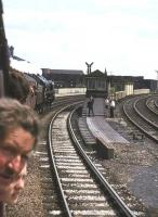 View from BR 'Scottish Grand Tour no 5' about to run through Miles Platting station on 1 June 1968 behind Britannia Pacific 70013 <I>Oliver Cromwell</I>.<br><br>[John Robin&nbsp;01/06/1968]
