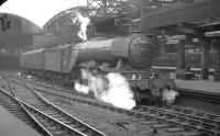 A3 Pacific  60105 Victor Wild with a train at Newcastle Central in the spring of 1961.<br><br>[K A Gray&nbsp;//1961]