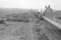 62228 at Mormond on 6 July 1950 with a train for Fraserburgh.<br><br>[G H Robin collection by courtesy of the Mitchell Library, Glasgow&nbsp;06/07/1950]