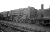 Britannia Pacific 70036 <I>Boadicea</I> photographed on Kingmoor shed in July 1964.<br><br>[K A Gray&nbsp;18/07/1964]