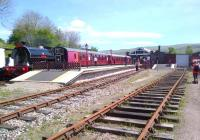 A panoramic view of Kirkby Stephen East, taken from the former goods yard during a Branch Line Society visit in May 2014 [see image 47625].<br><br>[Ken Strachan&nbsp;17/05/2014]