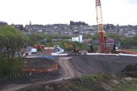 Looking east at the construction site of the new M8 Bargeddie Viaduct on 11th May 2015. <br><br>[Colin McDonald&nbsp;11/05/2015]