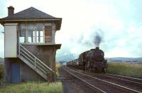 A down freight passing the old Wandel Mill signal box in September 1964 behind Black 5 44726.<br><br>[John Robin&nbsp;26/09/1964]
