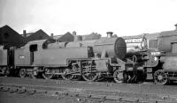 Fowler 4P 2-6-4T 42394 in the shed yard at Carlisle Kingmoor on 18 April 1965.<br><br>[K A Gray&nbsp;18/04/1965]