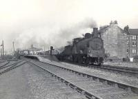 Caley <I>Jumbo</I> 57251 heading east with a freight through Yoker Ferry station on 3 May 1958. <br><br>[G H Robin collection by courtesy of the Mitchell Library, Glasgow&nbsp;03/05/1958]