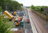 Ongoing work in and around the station area at Newtongrange on the afternoon of 20 May 2015.<br><br>[John Furnevel&nbsp;20/05/2015]