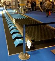 An a-track-tive exhibit: this length of track at Railtex, sponsored by Tata Steel, allowed several exhibitors to show off their products. I like the blue sleepers. [see image 51286]<br><br>[Ken Strachan&nbsp;12/05/2015]