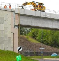 Activity at the south end of Hardengreen Viaduct on 20 May 2015.<br><br>[John Furnevel&nbsp;20/05/2015]