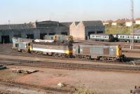 Looking across the shed yard at Eastfield in 1990.<br><br>[Ewan Crawford&nbsp;//1990]