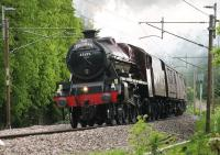 With West Coast Railway's troubles hopefully behind them an extended <I>Fellsman</I> season got underway on 27th May with 45699 <I>Galatea</I> taking the first train of the 2015 season out of Lancaster. <I>Fellsman</I> trains are scheduled to run every Wednesday until 26th August. <br><br>[Mark Bartlett&nbsp;27/05/2015]