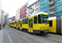 One of the elusive 'Tatra' trams, some of which are still in use in (East) Berlin and other former East German cities.<br><br>[Colin Miller&nbsp;21/05/2015]