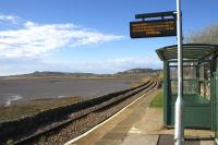 Beauty and the bus shelter - looking north towards Llandudno Junction over the River Conwy in the late afternoon sunshine on 14th April 2015.<br><br>[Colin McDonald&nbsp;14/04/2015]