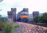 A class 47 with a southbound train crossing Dalguise Viaduct in 1990.<br><br>[Ewan Crawford&nbsp;//1990]