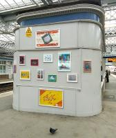 Power Trip: an exhibition of inspirational art at Paisley Gilmour Street in May 2015. The pigeon has clearly seen it all before.<br> <br><br>[David Panton&nbsp;30/05/2015]
