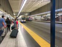 The Seattle light rail line shares the Downtown Tunnel with buses - this is University Street Station.<br><br>[John Yellowlees&nbsp;22/05/2015]