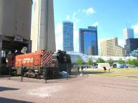 The Toronto Railway Heritage Centre, seen here in May 2015. The centre is housed in part of a roundhouse near the base of the CN Tower.<br><br>[John Yellowlees&nbsp;28/05/2015]