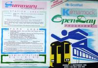 Brochure covering Kilmarnock Open Day on 11 September 1988 - part one. [See image 51611 for part two]. <br> <br><br>[Colin Miller&nbsp;11/09/1988]