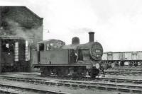Resident <I>Jinty</I> 0-6-0T 47492 in the shed yard at Kingmoor on 24 June 1962.<br><br>[John Robin&nbsp;24/06/1962]