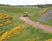 One of the Borders Railway Newcraighall - Tweedbank driver training turns, seen here on the afternoon of 19 June 2015 on the climb south to Falahill Summit. The DMU on this occasion is ScotRail 158731.   <br><br>[John Furnevel&nbsp;19/06/2015]