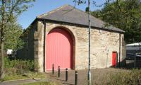 The former goods shed at Alston in May 2006. Now <i>The Hub</i> museum. [Ref query 1514]<br><br>[John Furnevel&nbsp;11/05/2006]