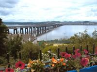 View north across the Tay Bridge from slightly east of Wormit station site, on what was, despite the clouds, a warm and pleasant Saturday afternoon.<br><br>[Andrew Wilson&nbsp;20/06/2015]