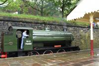 WD Austerity 0-6-0ST no 75008 <I>'Swiftsure'</I> (Hunslet 2857/1943) starring in a <I>Peppa Pig Gala Day</I> on 20 June 2015 at Bury Bolton Street station on the East Lancs Railway. <br><br>[Peter Todd&nbsp;20/06/2015]