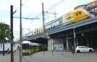 Two for the price of one. Scene near Berlin's Friedrichstrasse station on 21 May 2015.<br><br>[Colin Miller&nbsp;21/05/2015]