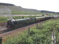 A1 Pacific 60163 <I>Tornado</I> waits in the loop at Beattock Summit on 27 June 2015 with <I>'The Border Reivers'</I> Railtour.<br><br>[John Robin 27/06/2015]