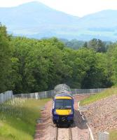 ScotRail 170461 heading north between Gorebridge and Newtongrange on 2 July 2015 during a crew training trip on the Borders Railway on its way from Tweedbank to Newcraighall.<br><br>[John Furnevel&nbsp;02/07/2015]