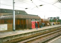 Not all demolished railway architecture is lamented. This is the city-bound platform at Partick in July 1997. The buildings were new with the station in 1979 and survived just 30 years. The 2009 replacement is a little more impressive [see image 32276].<br><br>[David Panton&nbsp;17/07/1997]