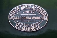 Works plate from the ARPG Barclay Fireless locomotive [AB1952/1928]. [See image 51874]<br><br>[Colin Miller&nbsp;05/07/2015]