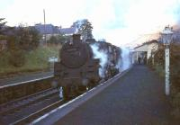 Standard class 5 4-6-0 73075 about to leave Crawford station on 26 September 1964 with the <I>'Parly'</I> stopping train from Glasgow to Carlisle. <br><br>[John Robin&nbsp;26/09/1964]