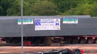 Banners were positioned on the new Bargeddie Bridge shortly before it began to be moved into place on the afternoon of 17th July 2015.<br><br>[Colin McDonald&nbsp;17/07/2015]