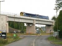 Heading for Tweedbank. A 158 on ScotRail crew training duty southbound in light rain on 20 July 2015. Unit 158786 is crossing Hardengreen Viaduct between Eskbank and Newtongrange.<br><br>[John Furnevel&nbsp;20/07/2015]