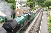 Preserved Southern 4-6-0 No 850 <I>Lord Nelson</I> at Medstead on 19 July 2015.<br><br>[Peter Todd&nbsp;19/07/2015]