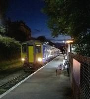 Northern 156491 calls at Burnley, Manchester Road, on 18 July 2015. The train is the 2236 Blackburn - Manchester Victoria, running via the recently relaid Todmorden curve.<br><br>[Ken Strachan&nbsp;18/07/2015]