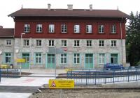 The Czech end of the Bayerisch Eisenstein border station - seen here on 18th June - is less impressive than its German counterpart, perhaps a microcosm of the different economic strengths of the two countries. [See image 51896]<br><br>[David Spaven&nbsp;18/06/2015]
