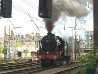 46115 <I>Scots Guardsman</I> sets off from Preston on 15 July 2015 with <I>The Fellsman</I> railtour to Carlisle.<br><br>[John McIntyre&nbsp;15/07/2015]