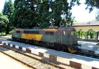 Six Class 87s, all apparently operational, were noted at a station with only a Cyrillic name on a journey from Sofia to Burgas on 26 July 2015. This one is 87029.<br><br>[John Yellowlees&nbsp;26/07/2015]