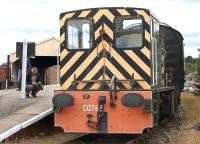 <I>That'll be D2767 then...</I> The NBL-built former BR shunter at Bo'ness on 26 July 2015.<br><br>[Bill Roberton&nbsp;26/07/2015]