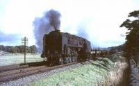BR Standard class 9F 2-10-0 92130 with an up freight south of Lamington on 26 September 1964.<br><br>[John Robin&nbsp;26/09/1964]