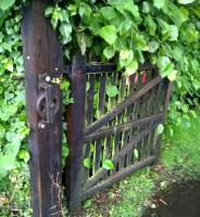 The crumbling edge of quality: the self-closing pedestrian gate to the Newcastle-bound platform at Brampton has lost its cable and weight. No doubt Network Rail have other priorities.<br><br>[Ken Strachan&nbsp;17/07/2015]