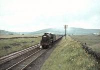Black 5 44796 starts to pick up speed on 30 July 1966 after passing Beattock Summit.    <br><br>[John Robin&nbsp;30/07/1966]