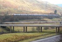 The 1400 Glasgow Central - London Euston Pendolino photographed near Greskine on 18 March 2015.<br><br>[John Furnevel&nbsp;18/03/2015]