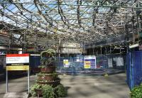 Some of the major renewal works underway at Wemyss Bay station in August 2015.<br><br>[John Steven&nbsp;07/08/2015]