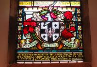 Memorial window in Alloway Parish Church to William Smith Dixon of 'Dixon's Blazes', which once lit up the sky on the south side of Glasgow... as those of a certain age will remember seeing from passing trains. [See image 27098]<br><br>[Colin Miller&nbsp;08/08/2015]